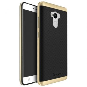 Фирменный чехол бампер iPaky TPU (силикон) + PC черно — золотой для Xiaomi Redmi 4 Pro / 4 Prime