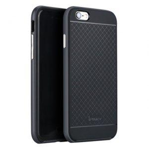 Защитный фирменный чехол бампер iPaky TPU (силикон) + PC для Iphone 6 Plus / 6s Plus – черно – серый