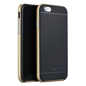 Защитный фирменный чехол бампер iPaky TPU (силикон) + PC  для Iphone 6 Plus / 6s Plus – черно – золотой