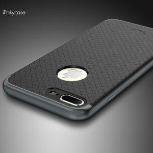 Защитный фирменный чехол бампер iPaky TPU (силикон) + PC для Iphone 7 Plus / 8 Plus – черно – серый