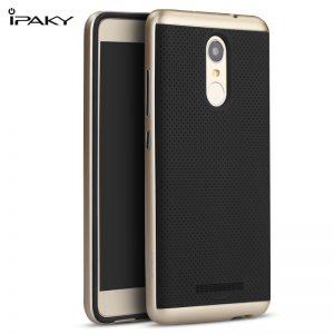 Фирменный чехол бампер iPaky TPU (силикон) + PC черно – золотой для Xiaomi Redmi Note 3 / 3 Pro