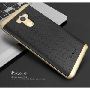 Фирменный чехол – бампер iPaky TPU + PC  для Xiaomi Redmi 4 – Черно-золотой