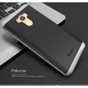 Фирменный чехол iPaky TPU + PC для Xiaomi Redmi 4 – Черно-серебряный