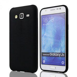 Матовый силиконовый (TPU) чехол для Samsung Galaxy J7 / J7 Neo (Черный)