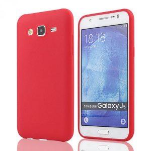 Матовый силиконовый TPU чехол для Samsung J3 2016 (J310 / J320) (Красный)