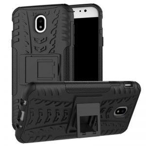 Противоударный двухслойный чехол Shield для Samsung J530 Galaxy J5 (2017) с подставкой (Черный)