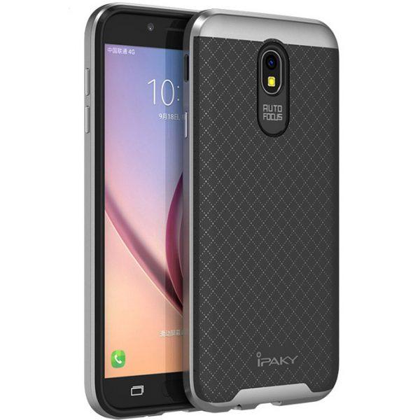 Чехол iPaky TPU+PC для Samsung J530 Galaxy J5 (2017) (Черный / Серебряный)
