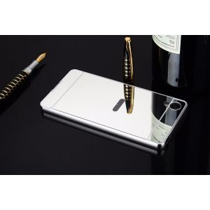 Алюминиевый бампер с акриловой вставкой с зеркальным покрытием для Sony Xperia XA / XA Dual (Серебряный)