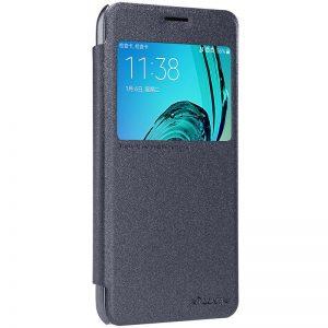 Кожаный чехол (книжка) Nillkin Sparkle Series для Samsung J710F Galaxy J7 (2016) Черный