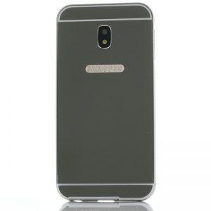 Металлический бампер с акриловой вставкой с зеркальным покрытием для Samsung J730 Galaxy J7 (2017) Черный