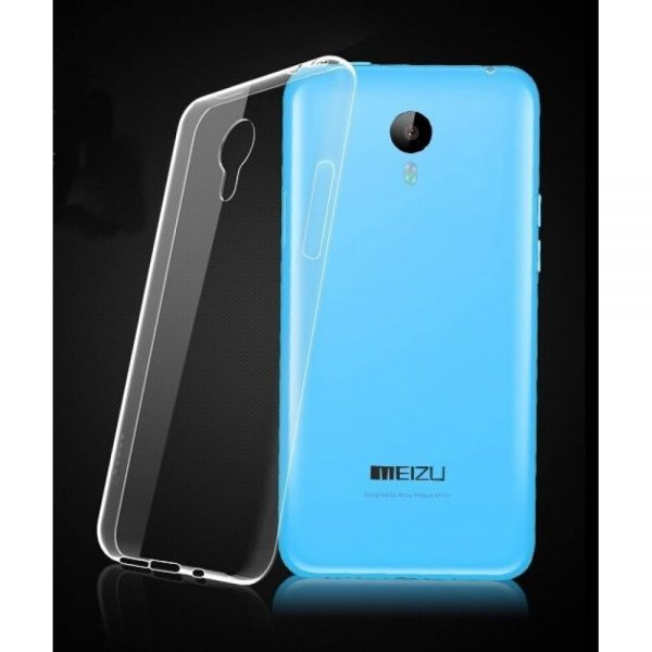 Защитный  прозрачный силиконовый чехол для Meizu M2 Note