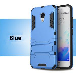 Ударопрочный чехол Transformer с подставкой для Meizu M5 (Blue)