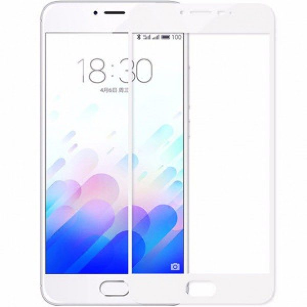 Защитное стекло 2.5d full cover (на весь экран) для Meizu M3 note (white)