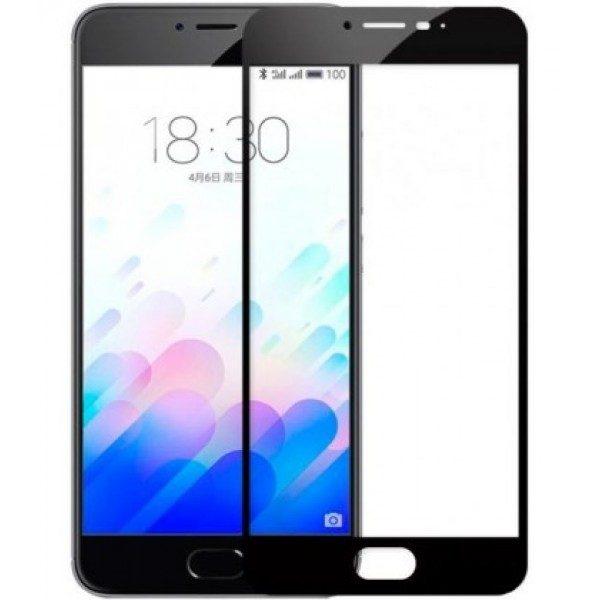 Защитное стекло 2.5d full cover (на весь экран) для Meizu M5 note (black)