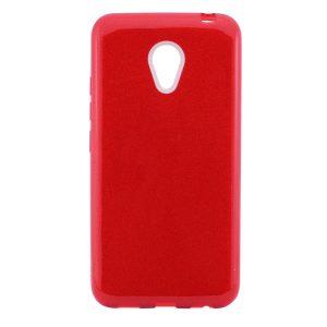 Силиконовый (TPU+PC) чехол Shine с блестками для Meizu M5 (Красный)