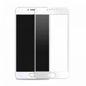 Защитное стекло 2.5d full cover (на весь экран) для Meizu M5 (white)