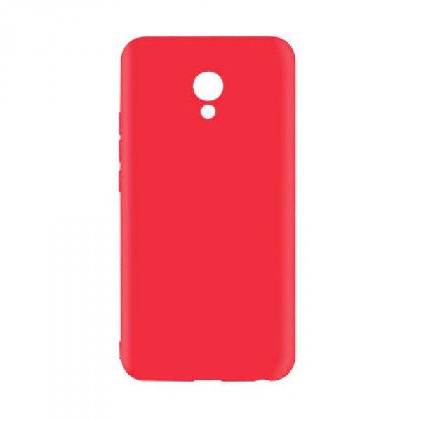 Красный матовый силиконовый (TPU) чехол (накладка) для Meizu M5s (Red)