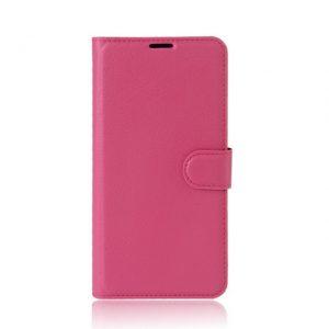 Кожаный чехол (книжка) Wallet с визитницей для Meizu M5s (Малиновый)