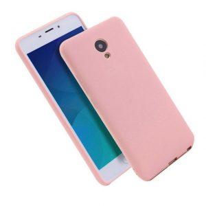 Матовый силиконовый TPU чехол на Meizu M6s (Розовый)