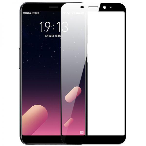 Защитное стекло 2.5D CP+ на весь экран (цветное) для Meizu M6s (Black)