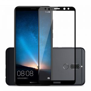 Защитное стекло 2.5D (3D) Full Cover на весь экран для Huawei Mate 10 Lite — Black