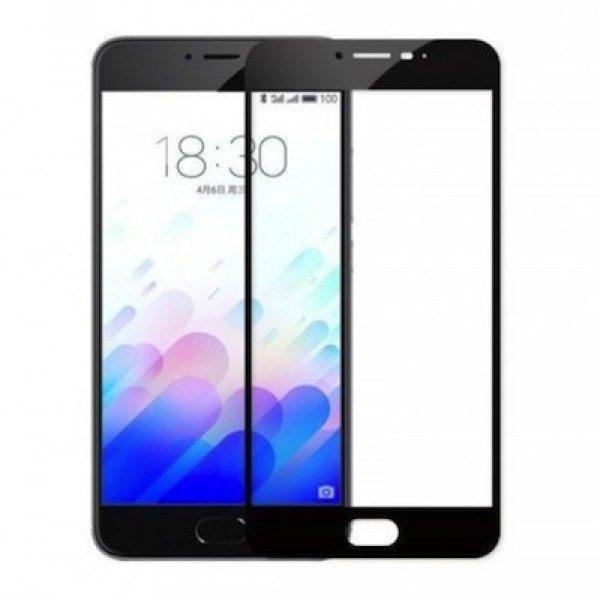 Защитное стекло 2.5d full cover (на весь экран) для Meizu pro 6 plus  (BLACK)