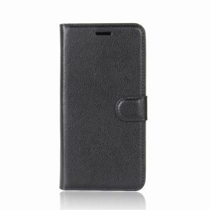 Кожаный чехол-книжка Wallet с визитницей для Meizu M5 Note (Черный)