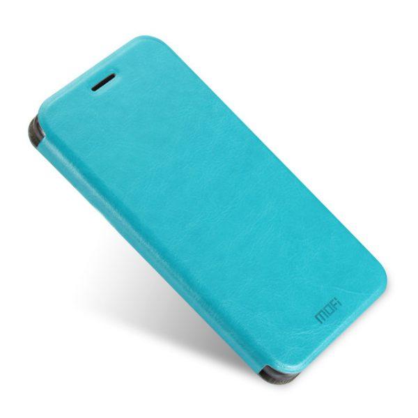 Кожаный чехол-книжка бренда Mofi для Xiaomi Redmi Note 4 Blue