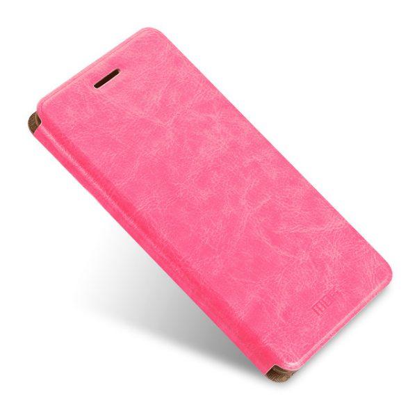 Кожаный чехол-книжка бренда Mofi для Xiaomi Redmi Note 4 Pink