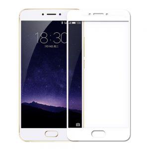 Защитное стекло 2.5D (3D) Full Cover на весь экран для Meizu Pro 6 Plus – White