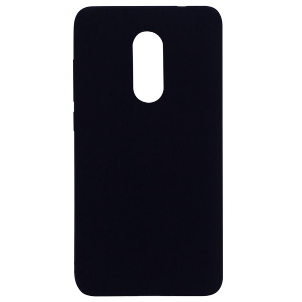 Силиконовый чехол для Xiaomi Redmi Note 4X / Note 4 (SD) Черный