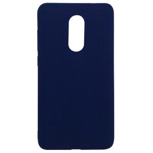 Матовый силиконовый (TPU) чехол для Xiaomi Redmi Note 4X / Note 4 – Синий