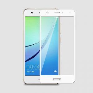 Защитное стекло 2.5D (3D) Full Cover на весь экран для Huawei Nova – White
