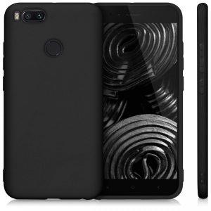 Матовый силиконовый TPU чехол для Xiaomi Mi 5X / Mi A1 (Черный)