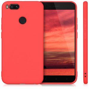 Матовый силиконовый TPU чехол для Xiaomi Mi 5X / Mi A1 (Red)