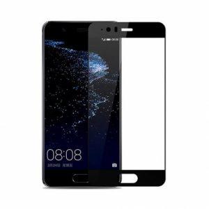 Цветное защитное стекло 2.5d full cover (на весь экран) для Huawei P10 (black)