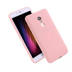 Матовый силиконовый TPU чехол для Xiaomi Redmi 5 Plus (Розовый)