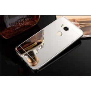 Металлический бампер с акриловой вставкой с зеркальным покрытием для Xiaomi Redmi 4 Pro / Redmi 4 Prime (Silver)
