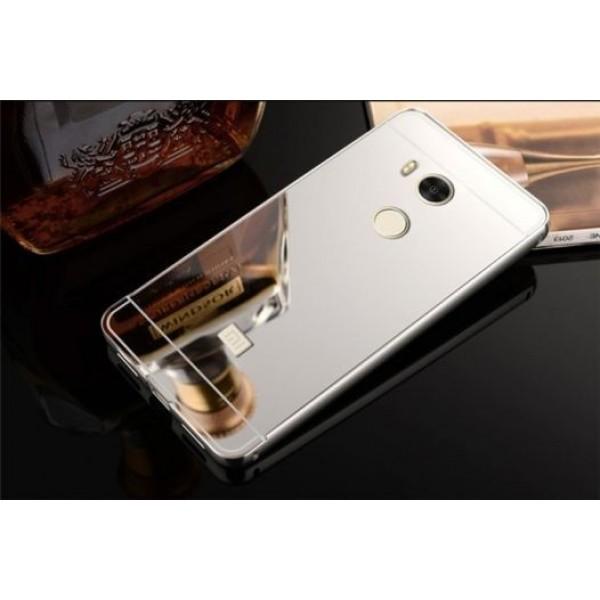 Алюминиевый бампер с акриловой вставкой с зеркальным покрытием для Xiaomi Redmi 4 Pro / Redmi 4 Prime (Silver)