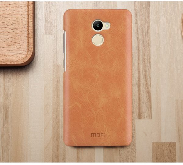 Пластиковая накладка бренда Mofi для Xiaomi Redmi 4 Brown (Коричневый)