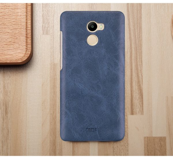 Пластиковая накладка бренда Mofi для Xiaomi Redmi 4 Dark Blue (Синий)