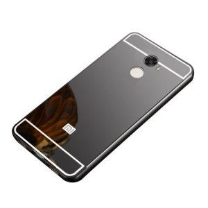 Алюминиевый бампер с акриловой вставкой с зеркальным покрытием для Xiaomi Redmi 4 (Grey)