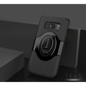 TPU+PC чехол iPaky Feather с имитацией кожи и подставкой для Samsung G935F Galaxy S7 Edge (BLACK)