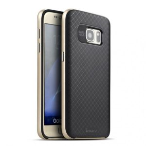 Фирменный чехол iPaky original TPU + PC черно – золотой для Samsung G935F Galaxy S7 Edge