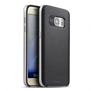Фирменный чехол iPaky original TPU + PC черно – серебряный для Samsung G935F Galaxy S7 Edge