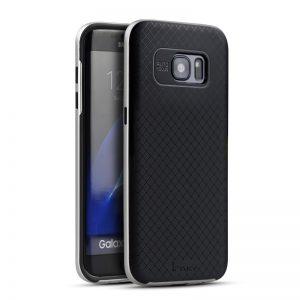 Фирменный чехол iPaky original TPU + PC черно – серебряный для Samsung G930F Galaxy S7