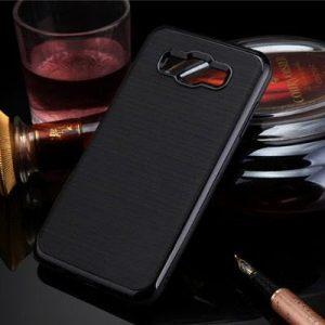 Противоударный защитный чехол с глянцевым ободком для Samsung Galaxy J5 2015 (SM-J500H) black