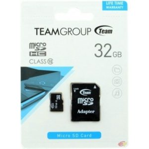 Карта памяти Team Group microSDHC 32 Gb Class 10 (+ SD адаптер) 1003/32