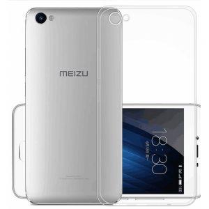 Защитный  прозрачный силиконовый чехол  для Meizu U10