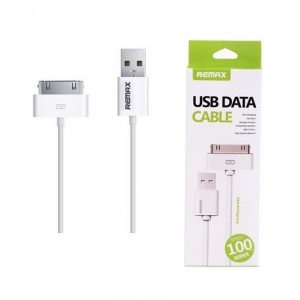 Кабель USB Data Cable (30 pin to USB) Remax для iPhone 4/4s (White)